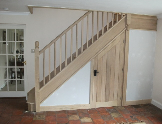 Bare Ash Stairs + Cupboard