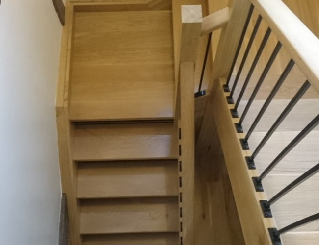 Oak With Iron Balustrades